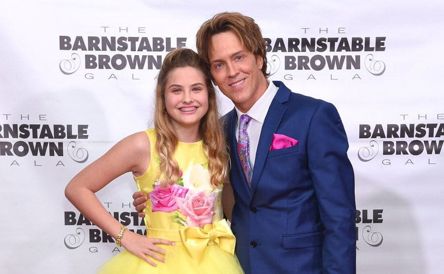 Dannielynn and Larry Birkhead on the red carpet in 2019