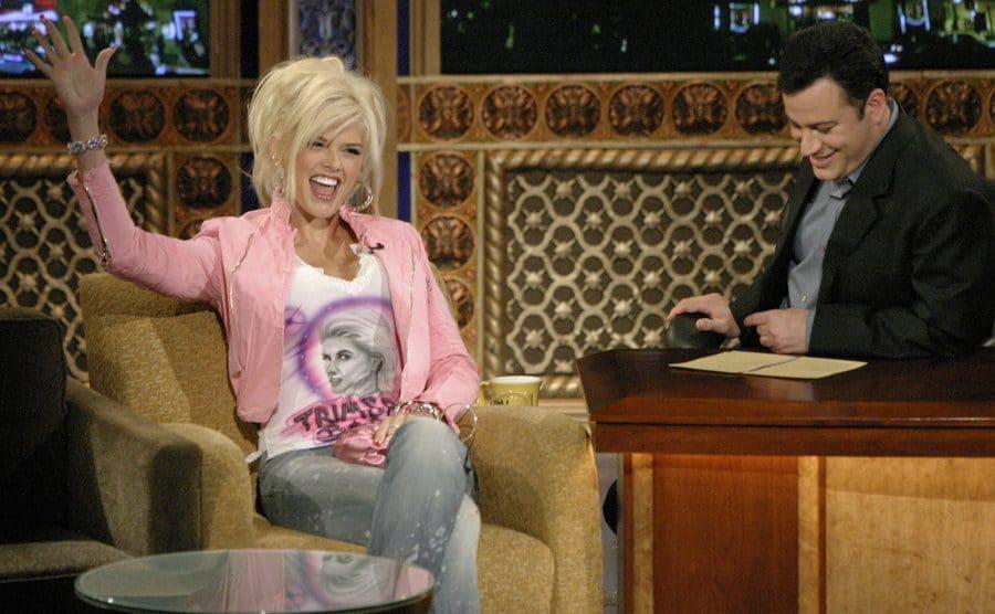 Anna Nicole Smith on the Jimmy Kimmel Show 2003