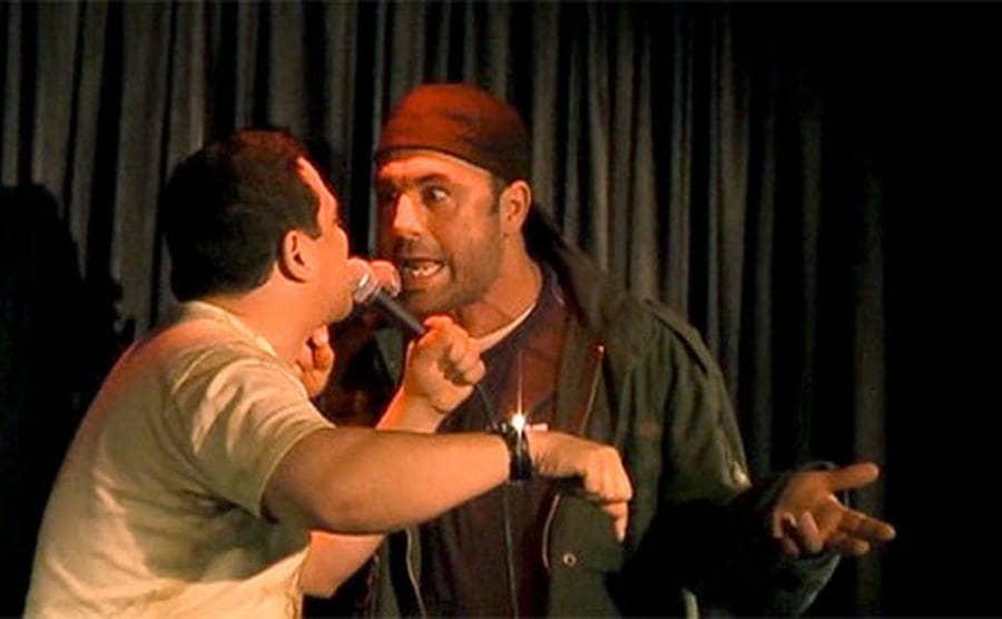 Joe Rogan calling out Carlos Mencia on stage
