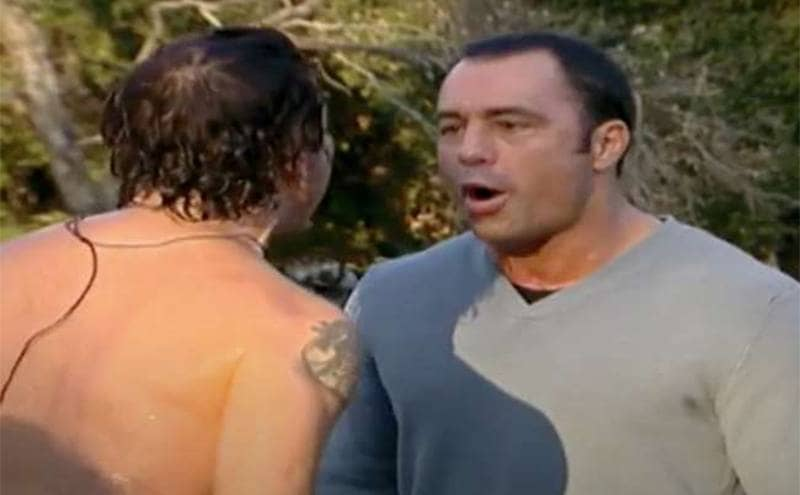 Joe Rogan getting into it with a shirtless contestant