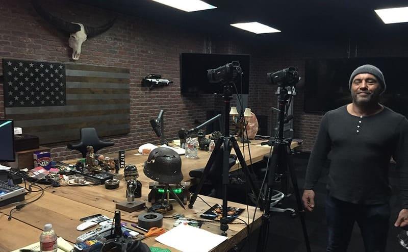 Joe Rogan standing in his old studio