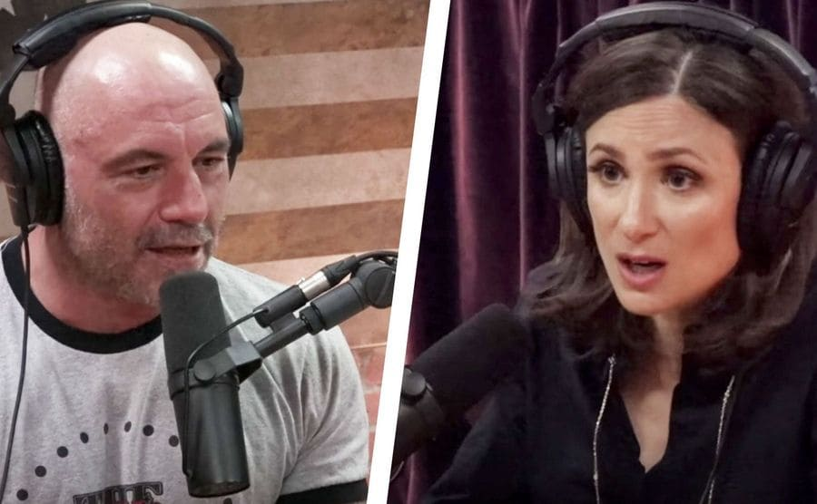 Joe Rogan and Abigail Shrier on his podcast
