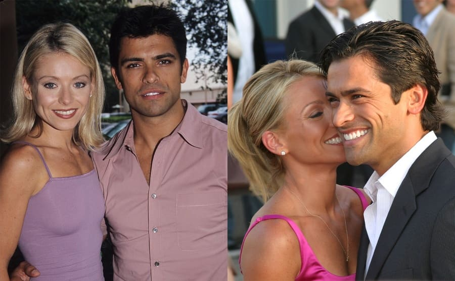 Kelly Ripa and Mark Consuelos 1999 / Kelly and Mark getting close on the red carpet in 2005