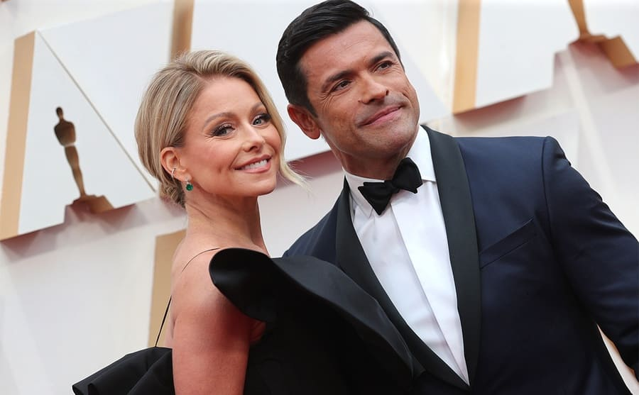 Kelly Ripa and Mark Consuelos on the red carpet in 2020