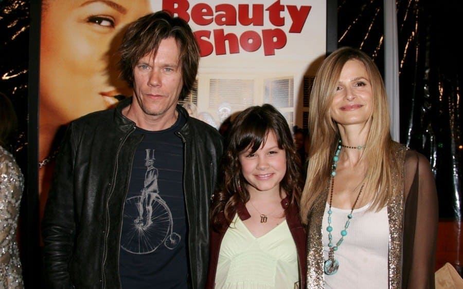 Kevin Bacon, Daughter Sosie and Kyra Sedgwick