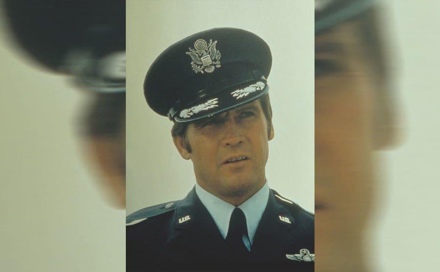 Lee Majors in a policeman uniform