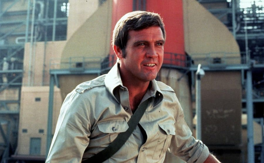 Lee Major as Colonel Steve Austin smiling