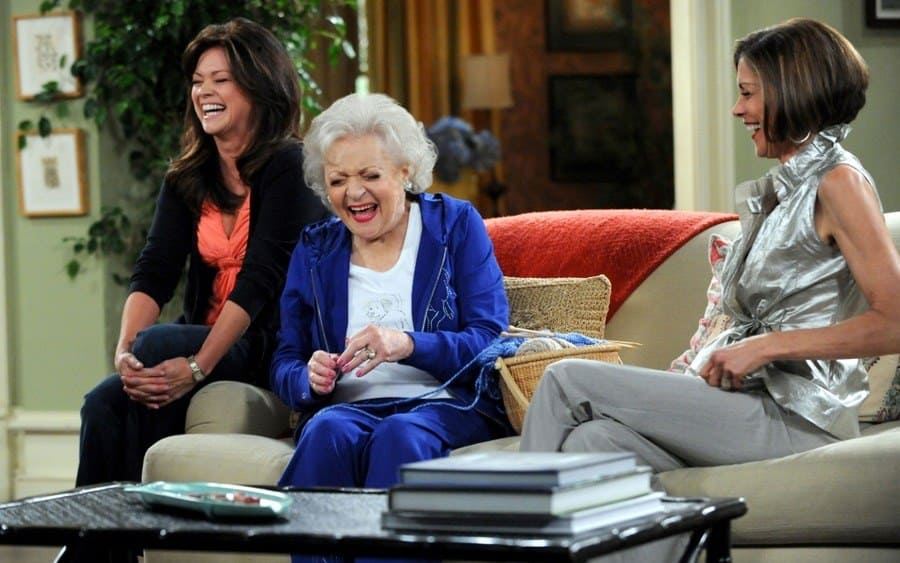 Valerie Bertinelli, Betty White, Wendie Malick Hot In Cleveland - 2010