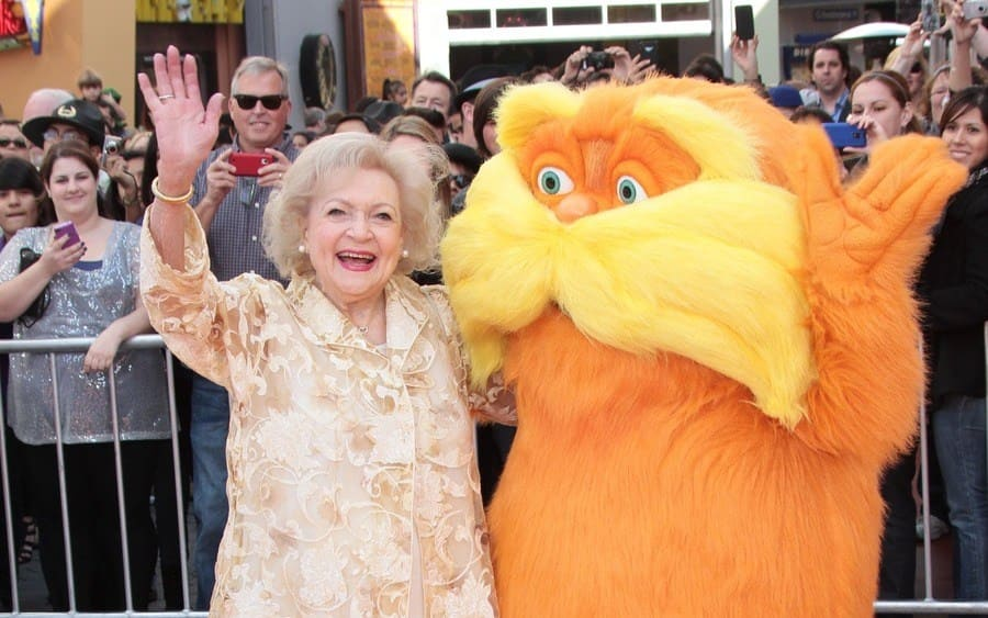 Betty White 'Dr. Seuss' The Lorax' film premiere, Los Angeles, America - 19 Feb 2012