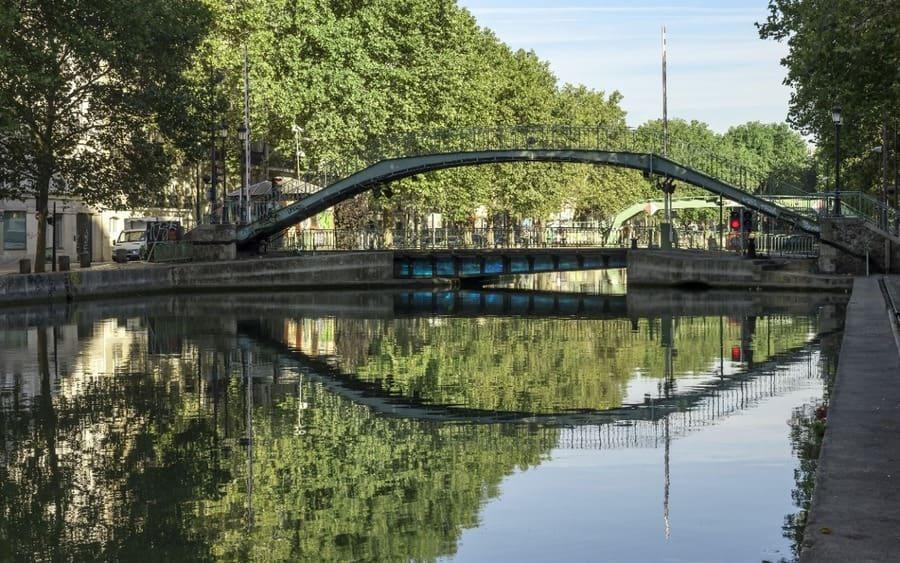 Canal Saint Martin, París, Francia