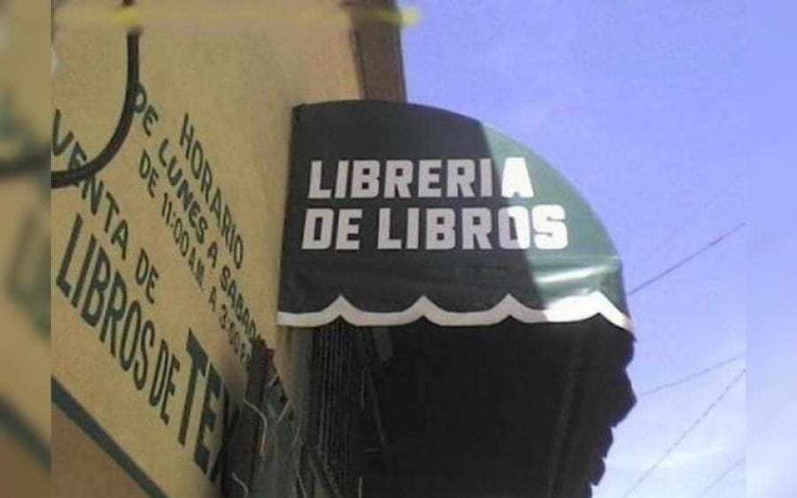 Letrero que lee: Librería de Libros
