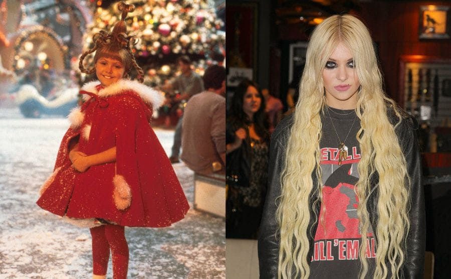 Taylor Momsen as Cindy Lou Who in How the Grinch Stole Christmas / Taylor Momsen on the red carpet in gothic style makeup