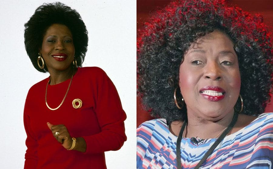 Jo Marie Payton in Family Matters / Jo Marie Payton today sitting in an empty theater