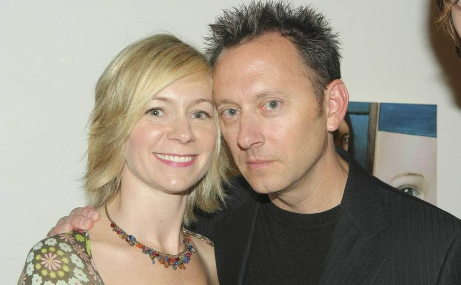 A close up of Carrie Preston and Michael Emerson