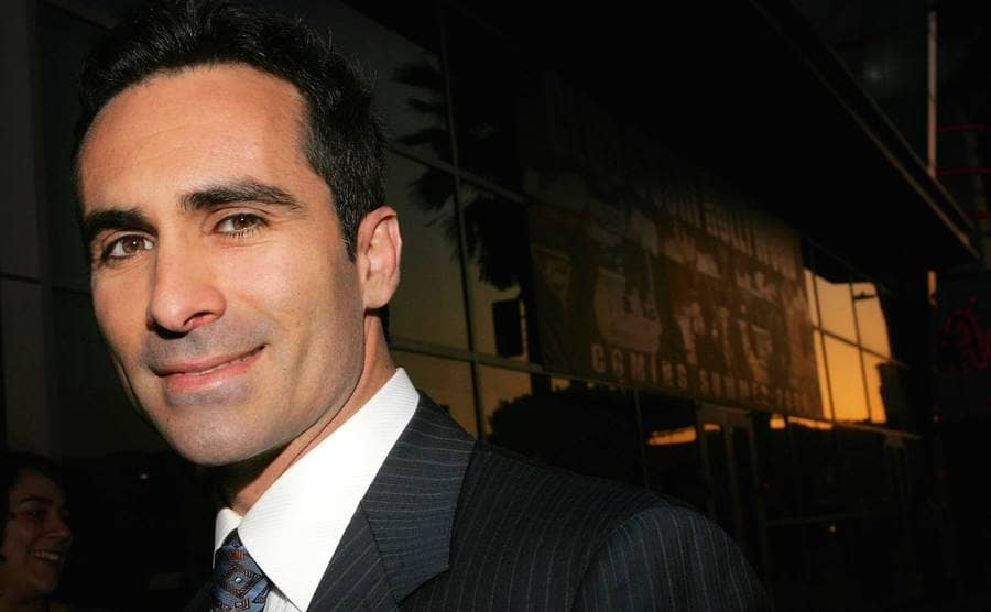 A close up of Nestor Carbonell