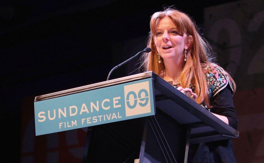 Havana Marking speaking at the Sundance Film Festival