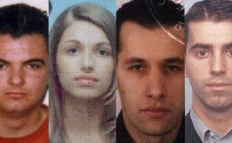 Four members of the Pink Panthers who were arrested