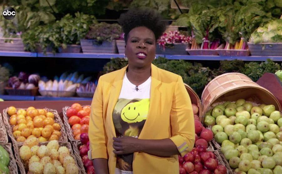 Leslie Jones as host of the new Supermarket Sweep reboot on ABC.
