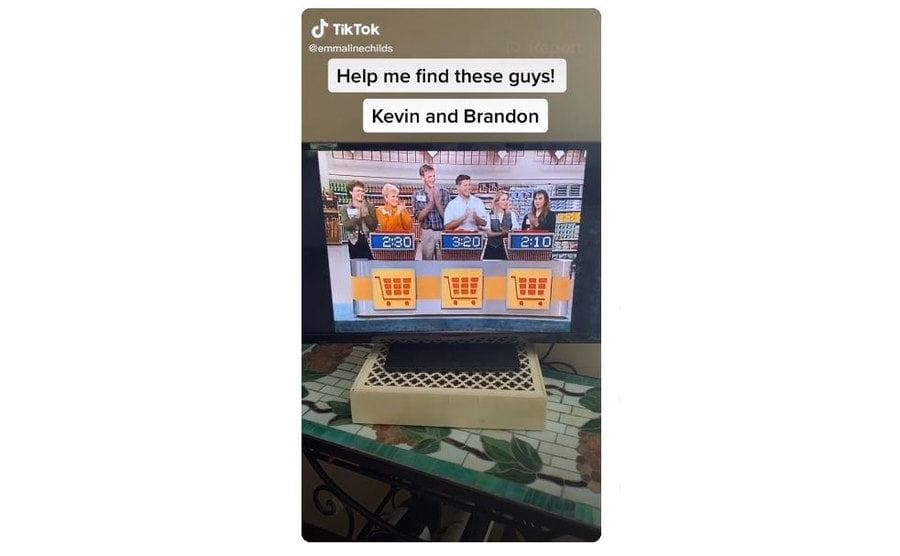 A tik tok made by a woman of the episode where Kevin and Brandon appear asking the world to help her find them.