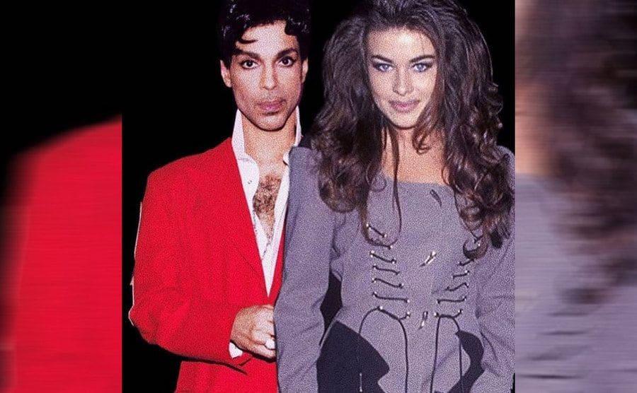 Carmen Electra posing with Prince