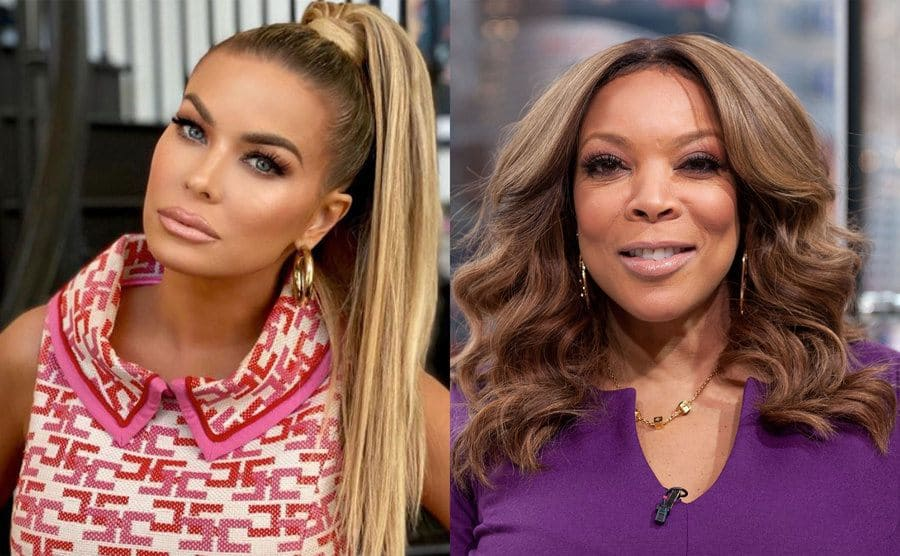 Carmen Electra posing with full make up on / Wendy Williams on the red carpet
