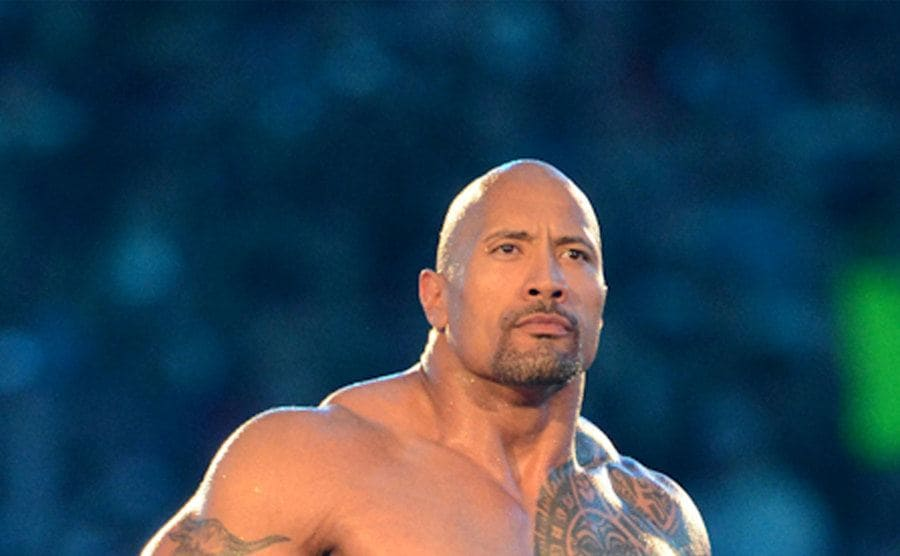 "Dwayne ""The Rock"" Johnson in the wrestling ring"