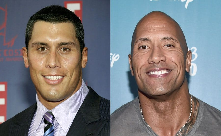 Tanoai Reed on the red carpet / Dwayne Johnson on the red carpet