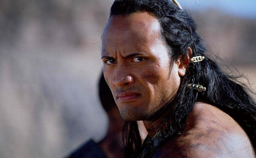 Dwayne Johnson dressed up in The Mummy Returns