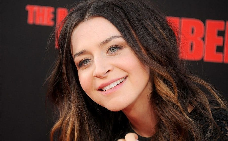 Caterina Scorsone on the red carpet at The November Man premiere
