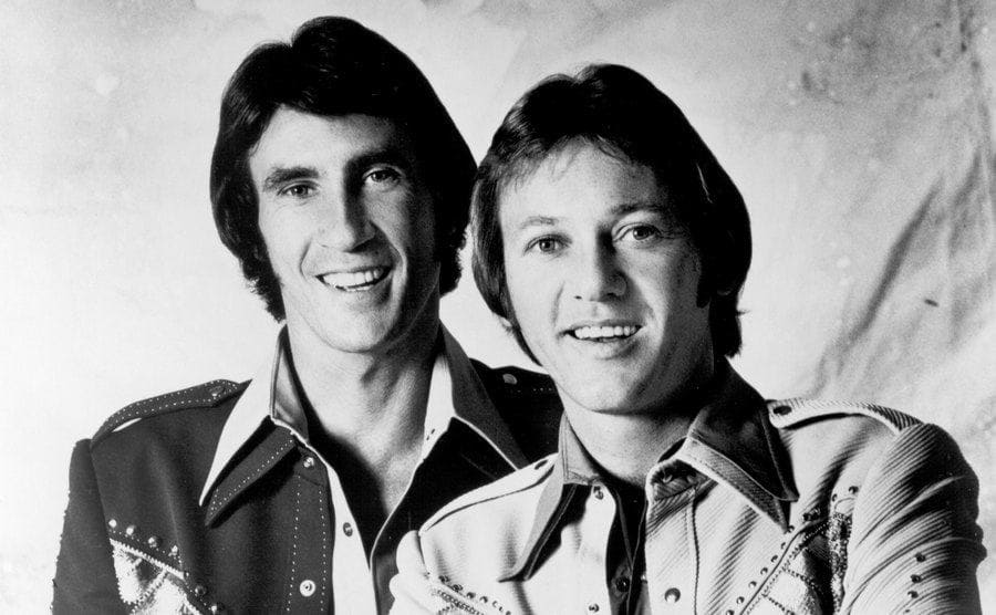 The Righteous Brothers posing for a studio photo.
