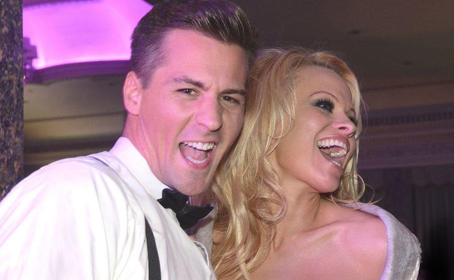 Pamela Anderson y Matt Evers