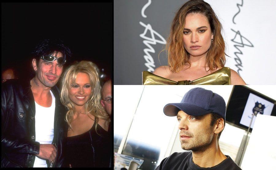 Pamela Anderson y Tommy Lee/ Lily James /Sebastian Stan