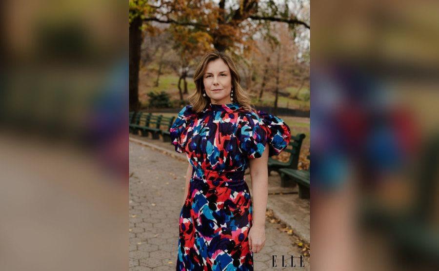 Christie Smythe photoshoot for Elle Magazine in Central Park.