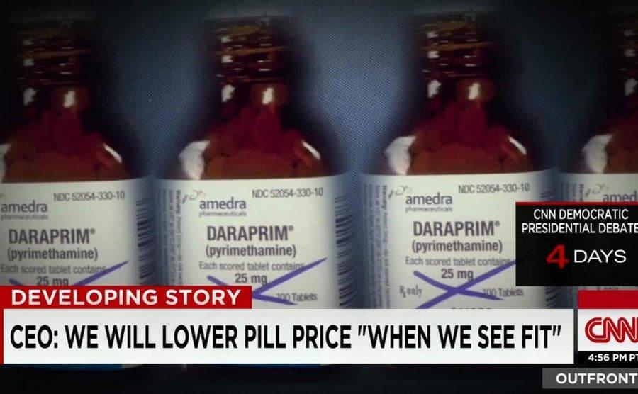 Daraprim Medication on the manufacturing line.