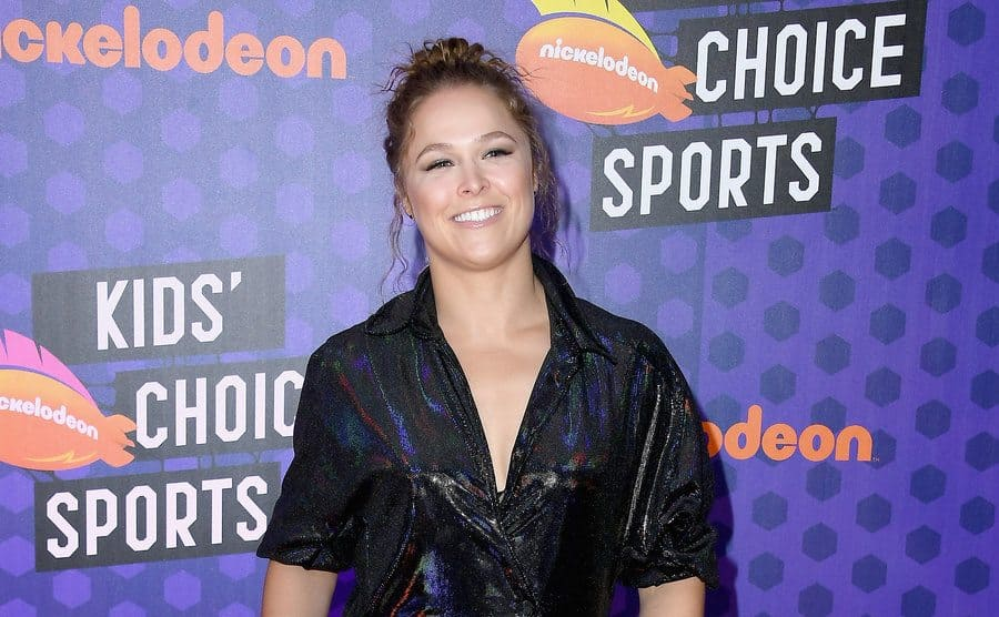 Ronda Rousey on the red carpet in 2018