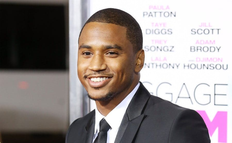 Trey Songz arrives at the Los Angeles premiere of