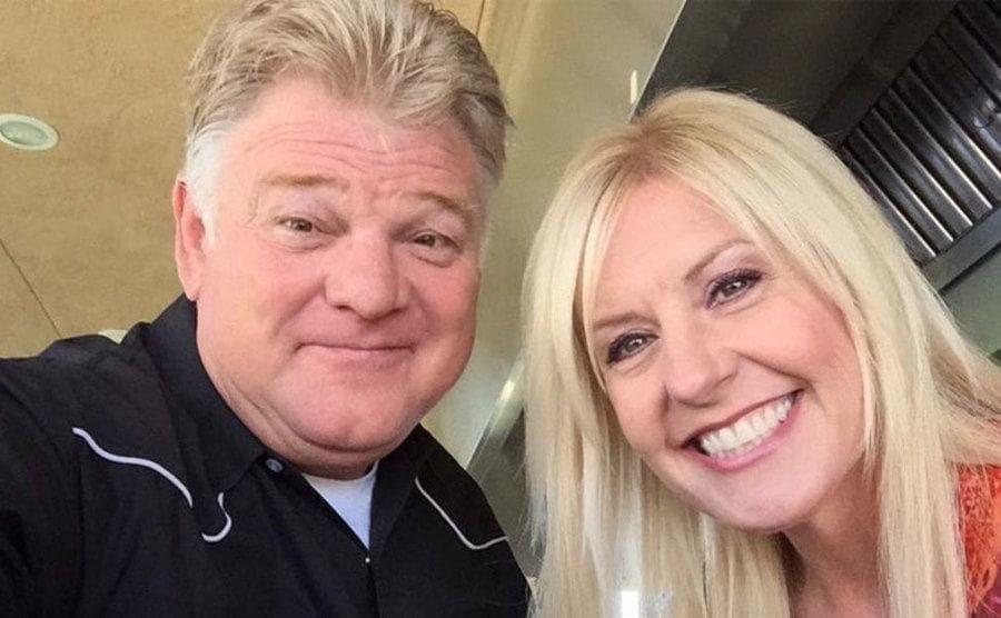 A selfie of Dan and Laura Dotson