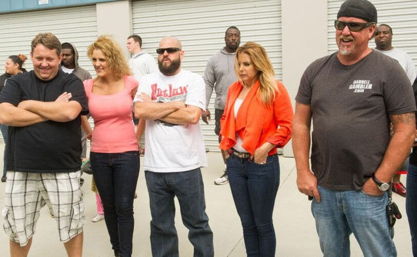 """The players on """"Storage Wars"""" faces as they look over a unit, not very happy faces."""