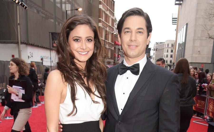 Nathalia Chubin and Adam Garcia on the red carpet together