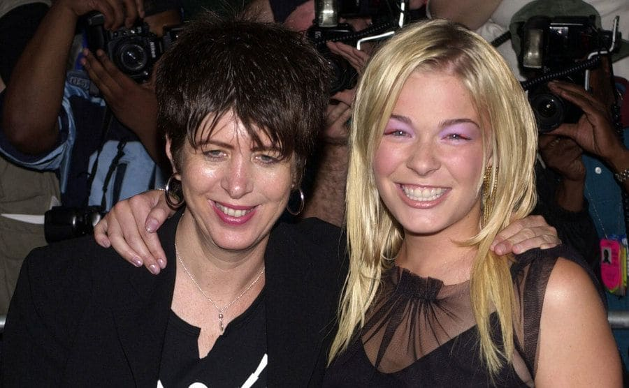 Diane Warren and LeAnn Rimes on the red carpet for the Coyote Ugly premiere