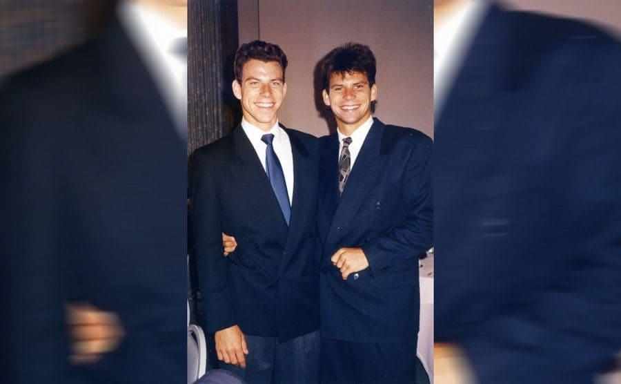 Lyle and Erik Menendez posing in suits