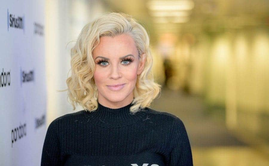 Jenny McCarthy posing on the red carpet in 2019