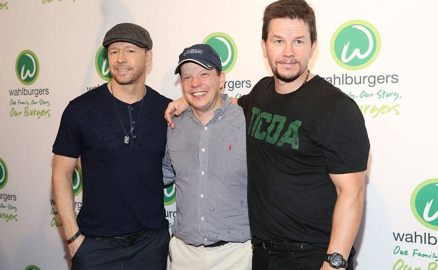 Donnie, Paul, and Mark Wahlberg on the red carpet