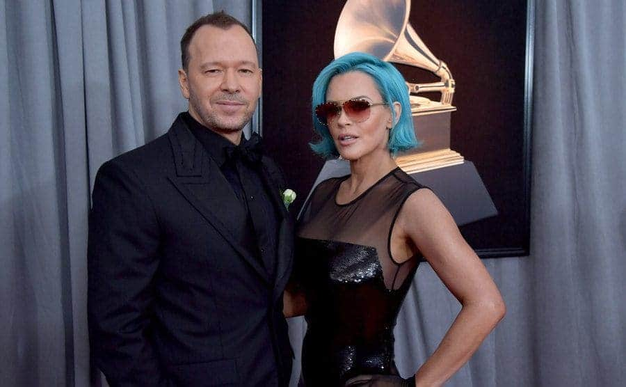 Donnie and Jenny on the red carpet at the Grammy Awards