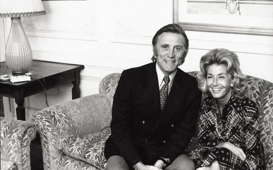 Kirk Douglas with his wife, Anne Buydens