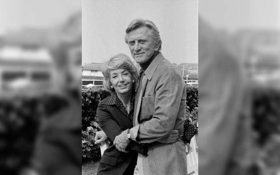 Kirk Douglas and his wife Anne on September 5, 1978, in Deauville, France
