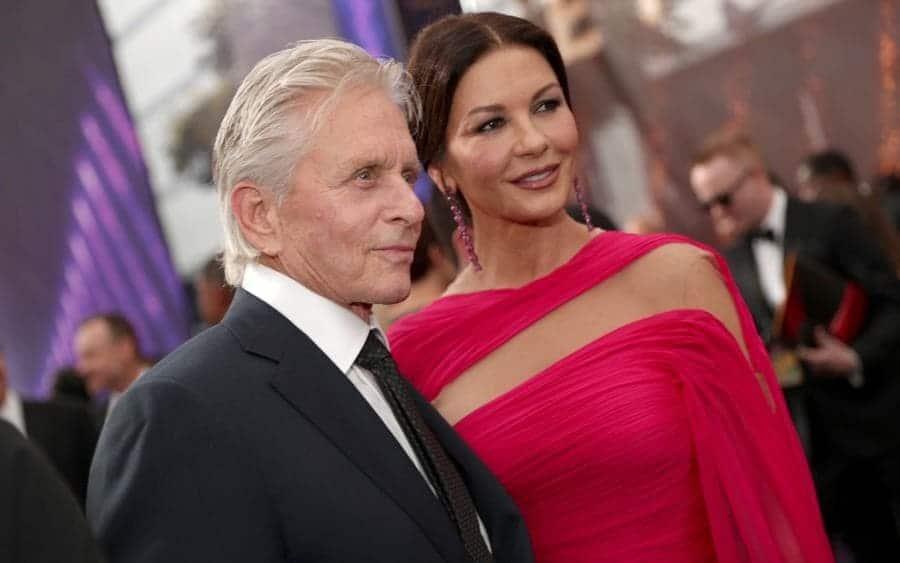 Michael Douglas and Catherine Zeta-Jones walk the red carpet