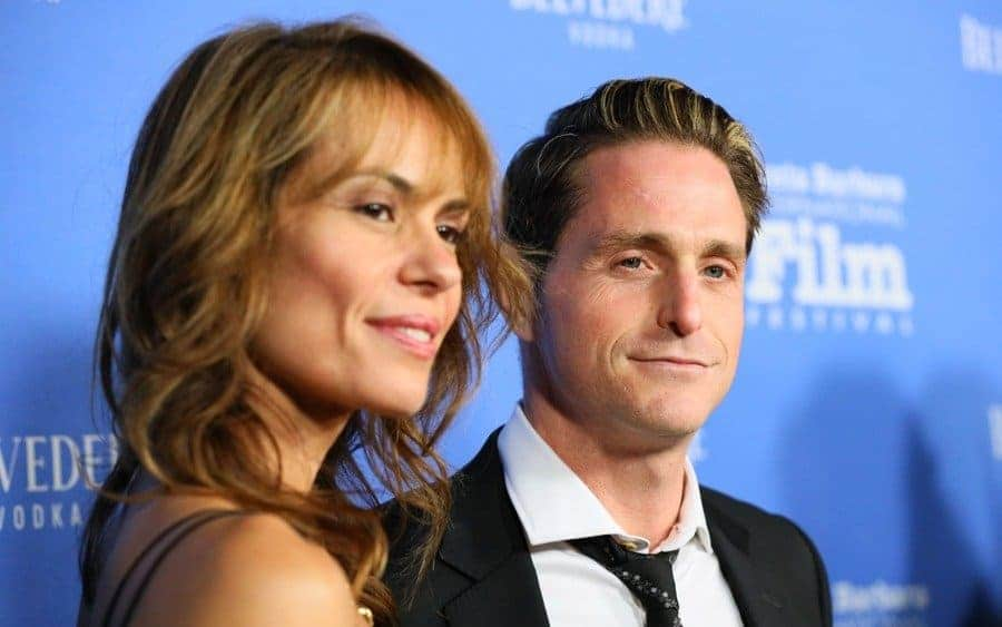 Viviane Thibes and Cameron Douglas arrive at Santa Barbara International Film Festival.