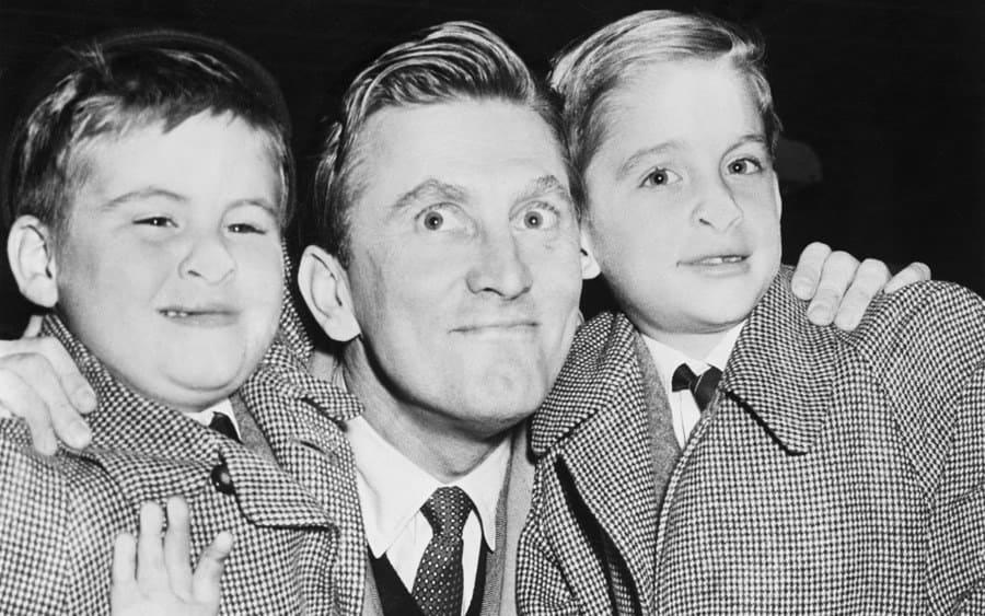 Joel Douglas, left, 6, and Michael Kirk, 9, right