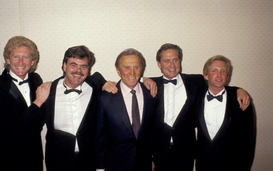 Peter Douglas, Joel Douglas, Kirk Douglas, Michael Douglas, and Eric Douglas